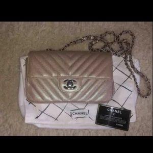 Chanel Mini Rectangular Iridescent Flap Bag